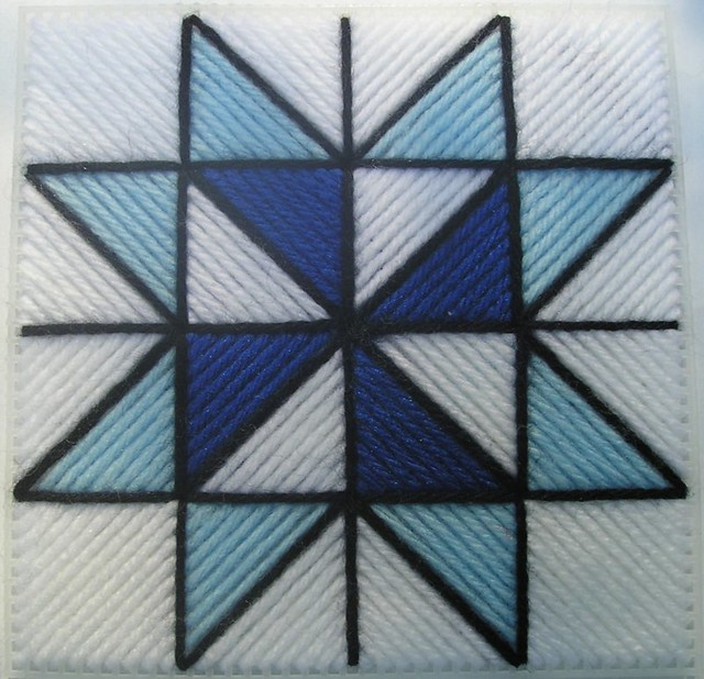 Saw Tooth Star Quilt Block Pattern In Plastic Canvas Flickr