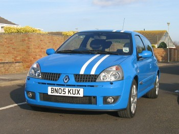 French Racing Blue Renault Clio 182 Factory Racing Stripes ...
