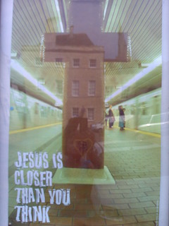 poster outside st georges church in stamford | by sara~