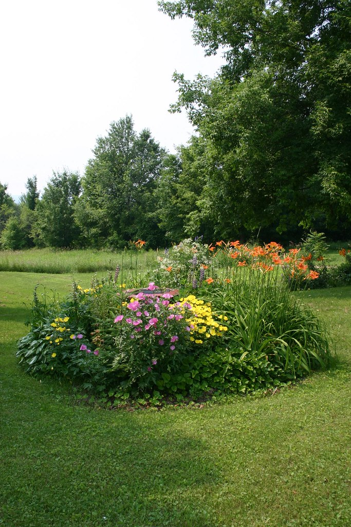 Flower Bed Hiding Septic Tank Access Landscaping Is