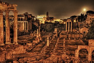 Ancient Roman Forum by Night | by Stuck in Customs