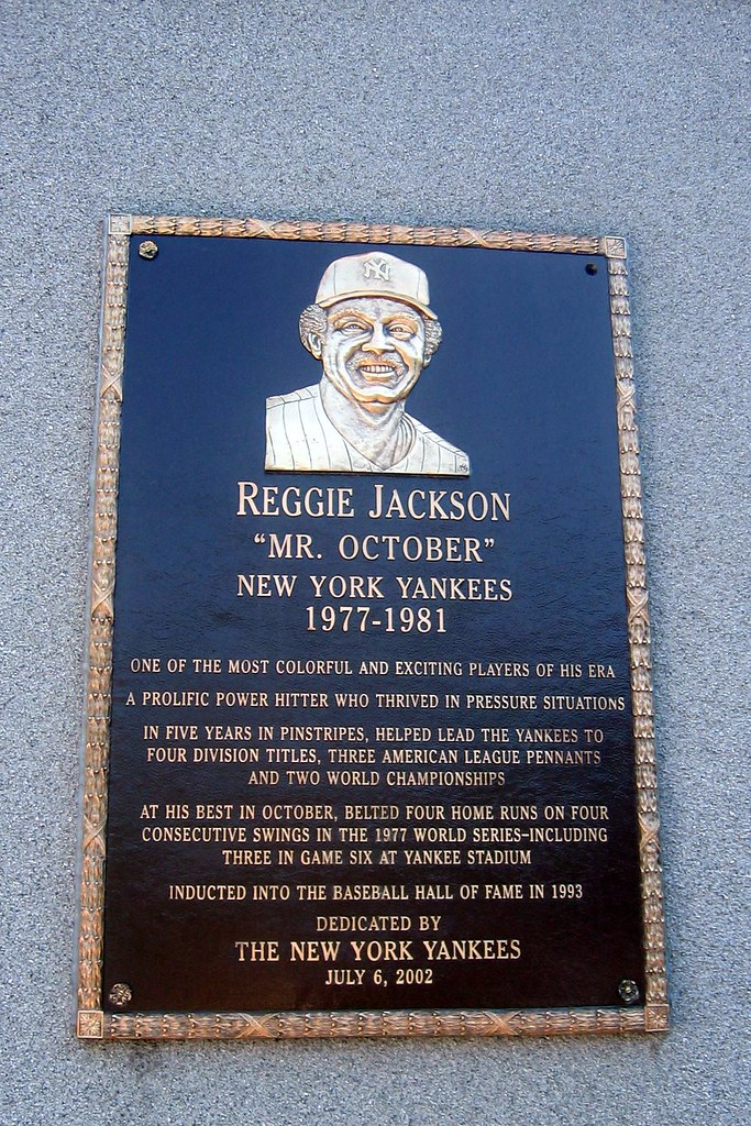 Yankee Stadium Monument Park Reggie Jackson Plaque Flickr
