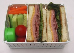 Mixed meat sandwich in collapsible sandwich holder | by Biggie*