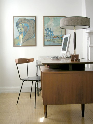 mid century modern office not mine elegantxtrash flickr. Black Bedroom Furniture Sets. Home Design Ideas