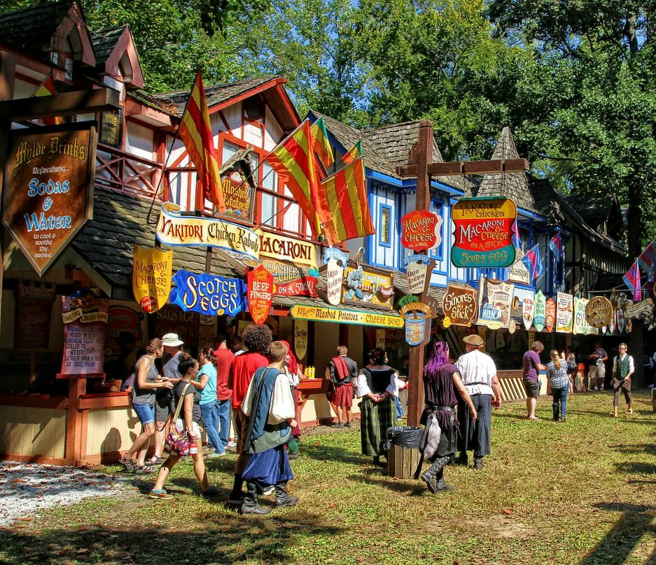 Photographed is an assortment of food that will available ... |Renaissance Festival Food Ideas