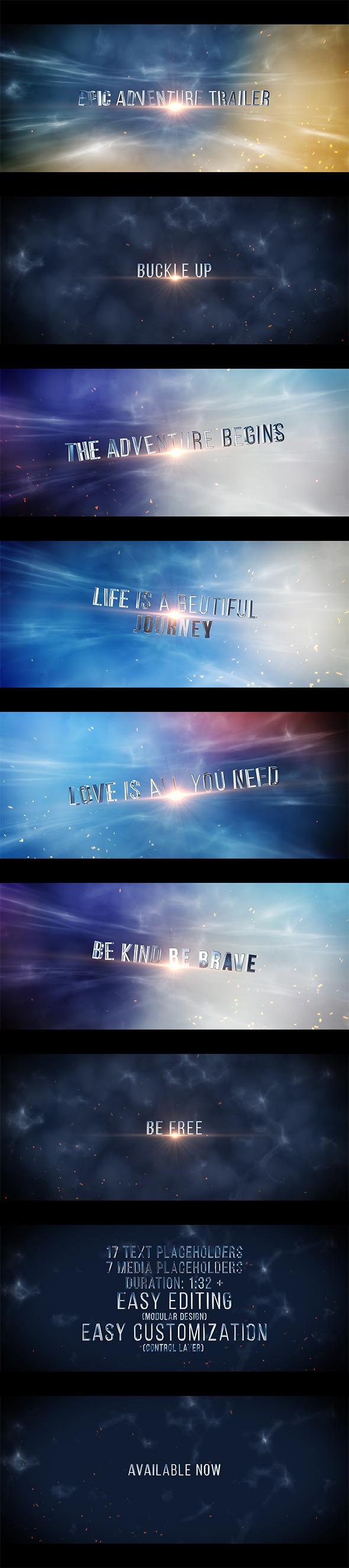 Epic Adventure Trailer Titles