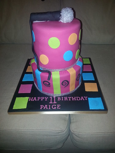 Neon disco 2 tiered Birthday cake | by platypus1974