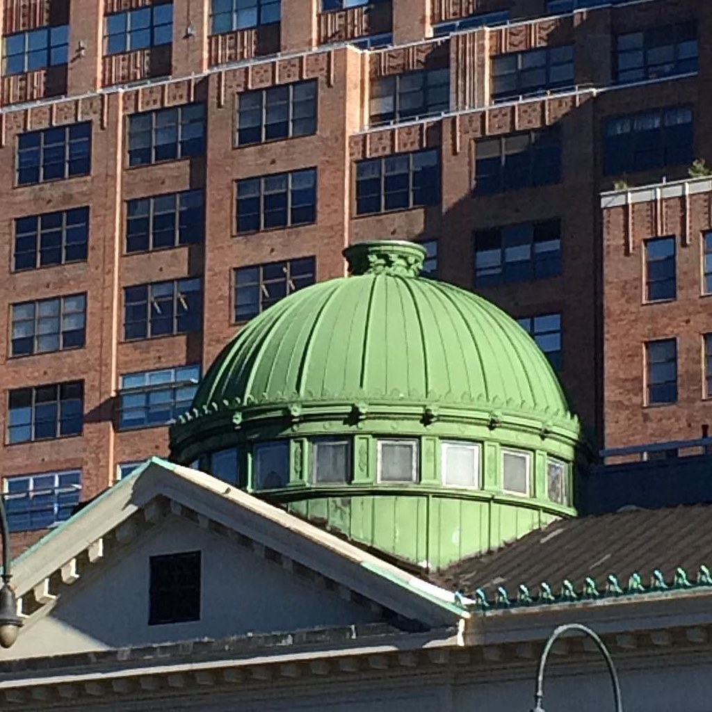 new york architecture the green dome of a lovely old bank flickr