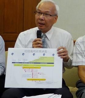 環境督察總隊總隊長蕭清郎解釋政府政策