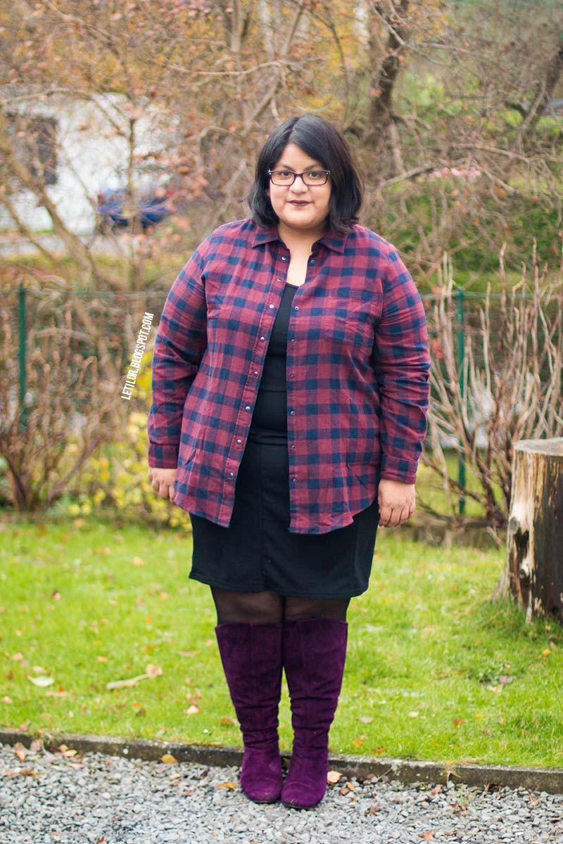 blogueuse mode ronde outfit carreaux