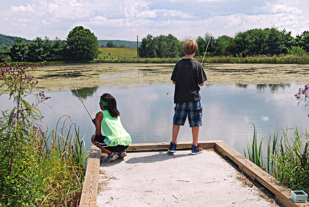 Sky Meadows State Park kids fishing on pond -edited   Flickr
