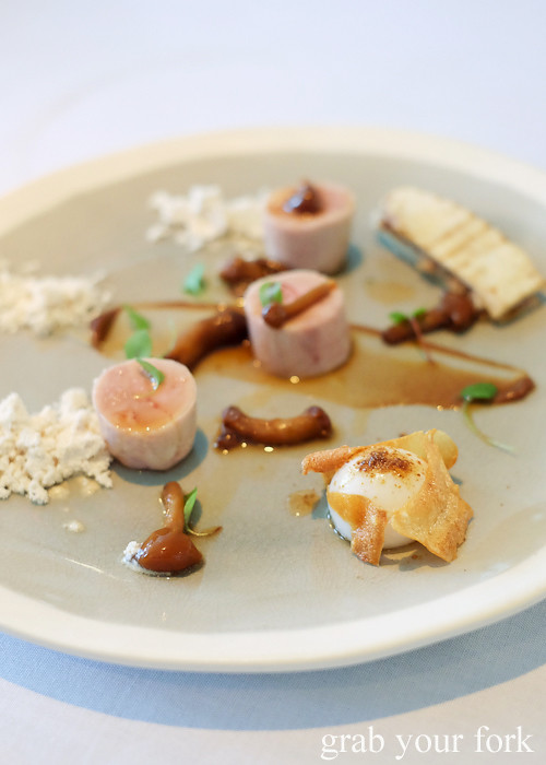 Galantine of quail at Bathers' Pavilion in Balmoral Sydney