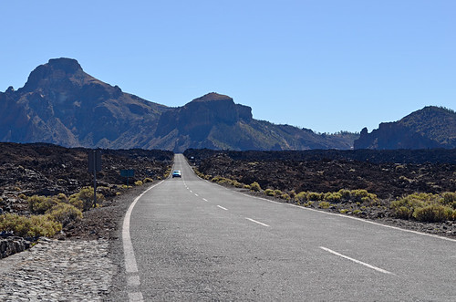 Road walking, Teide National Park, Tenerife