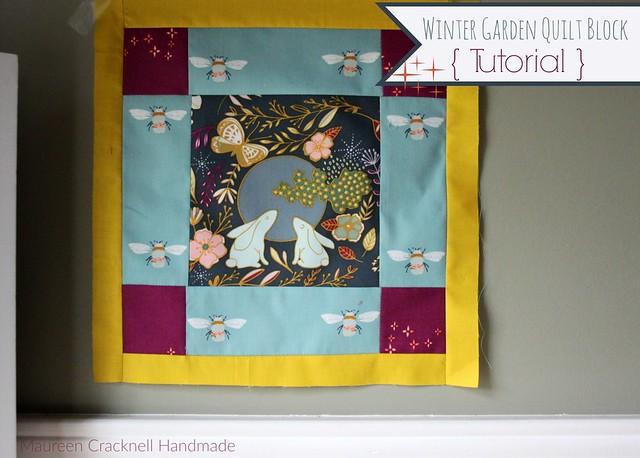 Winter Garden Quilt Block Tutorial