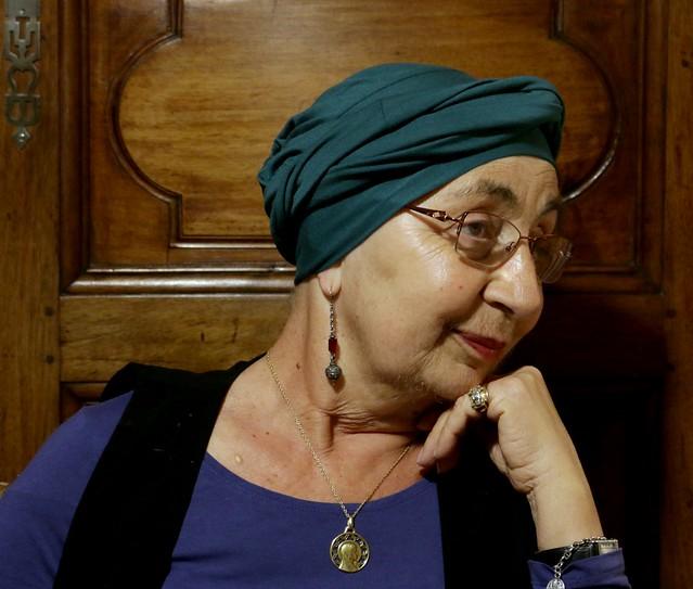Turban en coton vert pour chimio