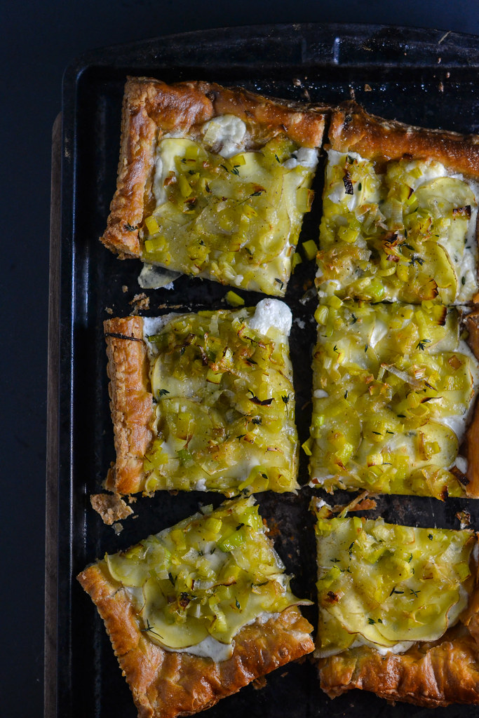 Potato, Leek, and Goat Cheese Tart | Things I Made Today