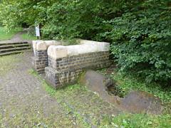 Grüner Pütz mit römischer Wasserleitung