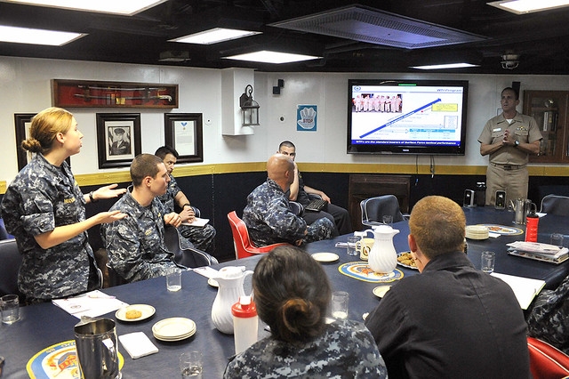 Brief hosted by the Naval Surface and Mine Warfighting Development Center (SMWDC)