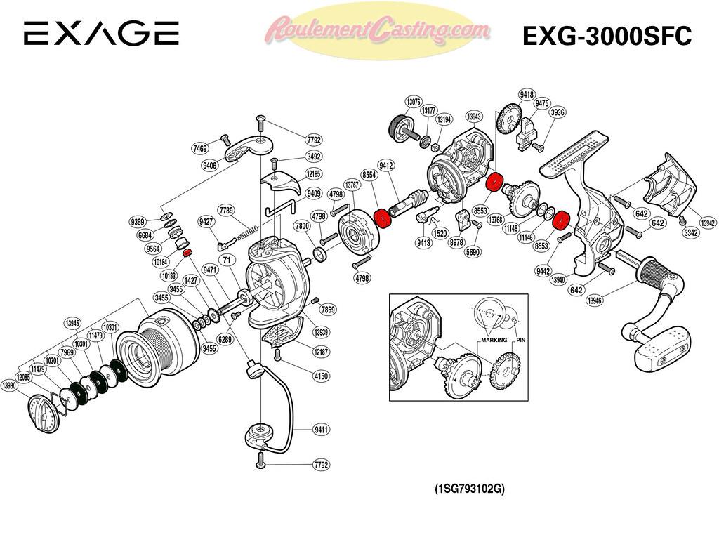 Schema-Shimano-EXAGE-3000SFC | roulementcasting.com/schema-s… | Flickr