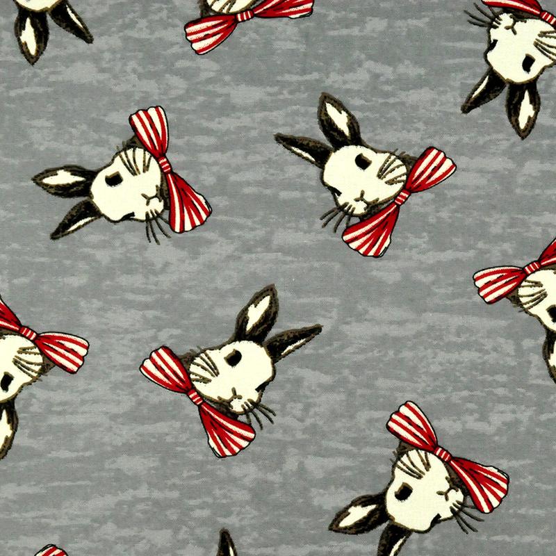 三月兔 (大特价) 可爱动物 领结白兔 手工艺diy拼布布料 cf550545