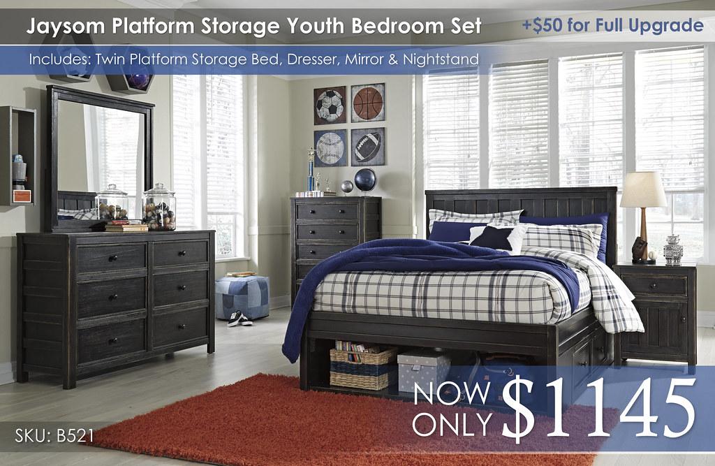 Jaysom Platform Storage Youth Bedroom Set B521
