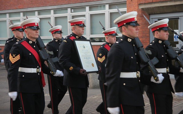 Royal Marines Reserves receive Freedom of the Borough