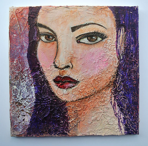 A-mixed-media-girl-on-canvas