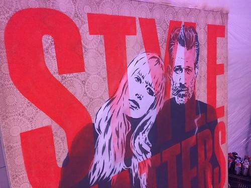 Zeer leuke avond gehad op het #kmshair event in #Amersfoort #LivePainting.EGD #stylematters #stencilart #streetart #event #goldwell