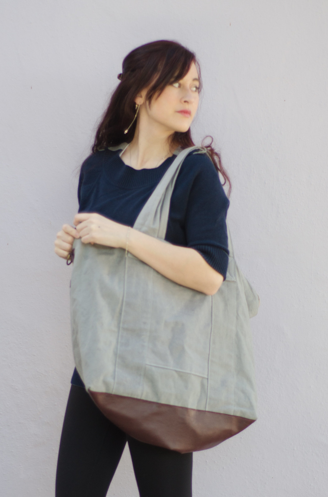 Wax canvas tote bag