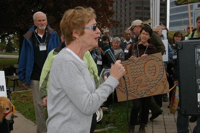 Maude Barlow speaking in Windsor