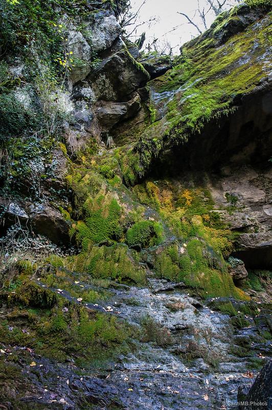 La parte alta de la Cascada de Osate
