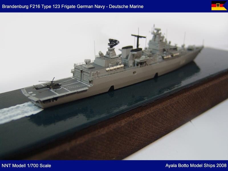 Frégate FGS Brandenburg F215 Type F123 Marine Allemande, NNT Modell 1/700 23646086431_f4d34dc61d_c