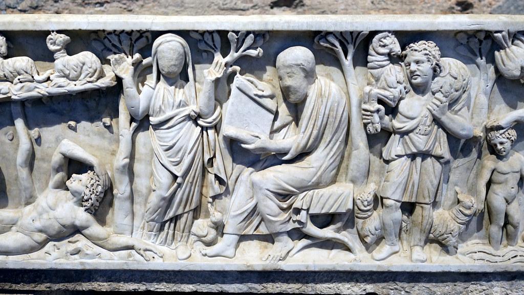 Orant And Philosopher Type Male Santa Maria Antiqua Sarco