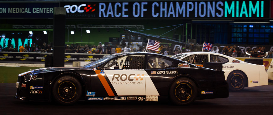 KENNOL-sponsored NASCARs driven by World Champions at 2017 Race of Champions!