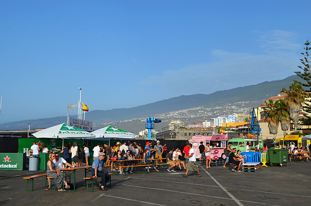 Food trucks at the Phe Festival, Puerto de la Cruz, Tenerife