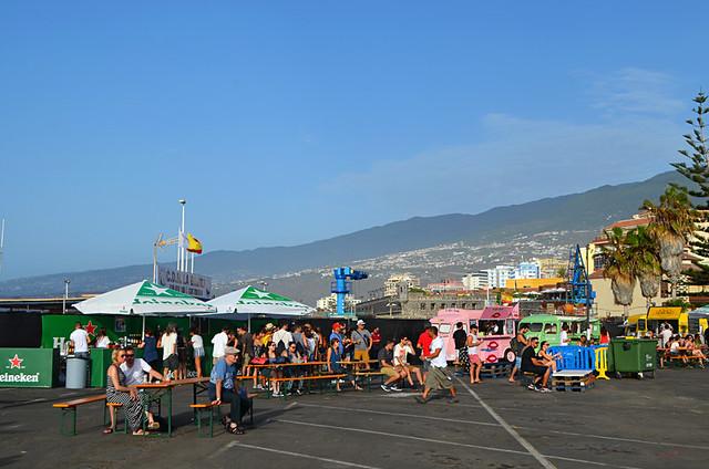Food trucks at the Phe Festival, Puerto de la Cruz, Tenerife