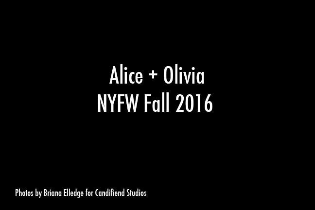 NYFW FW 2016 | Alice + Olivia