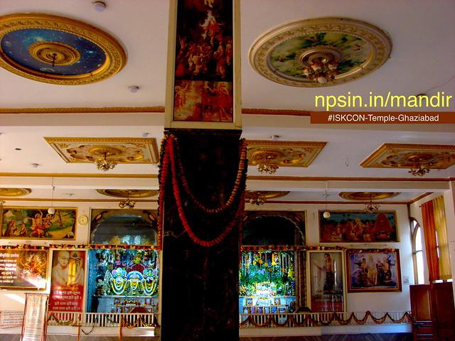 Prayer hall with left Sri Sri Jaganntha Baladeva Subhadra dham and right Radha Mohan Ji.