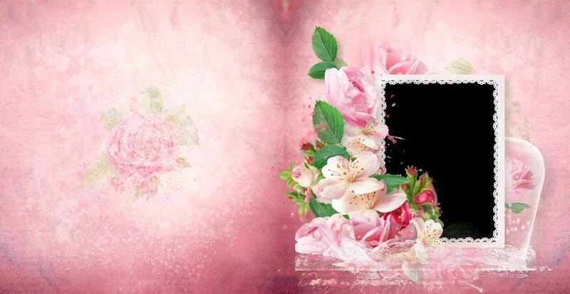 Romantic photo book in Photoshop and PSD – love in my heart