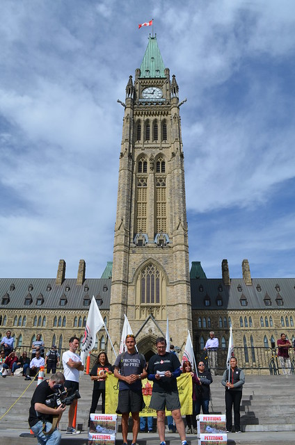 Petition delivery on Parliament Hill