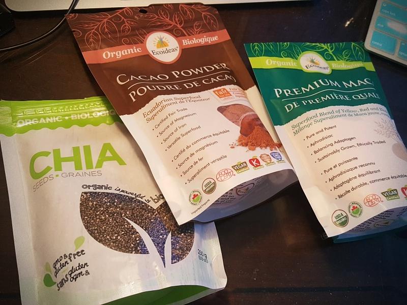 chia cacao maca powder
