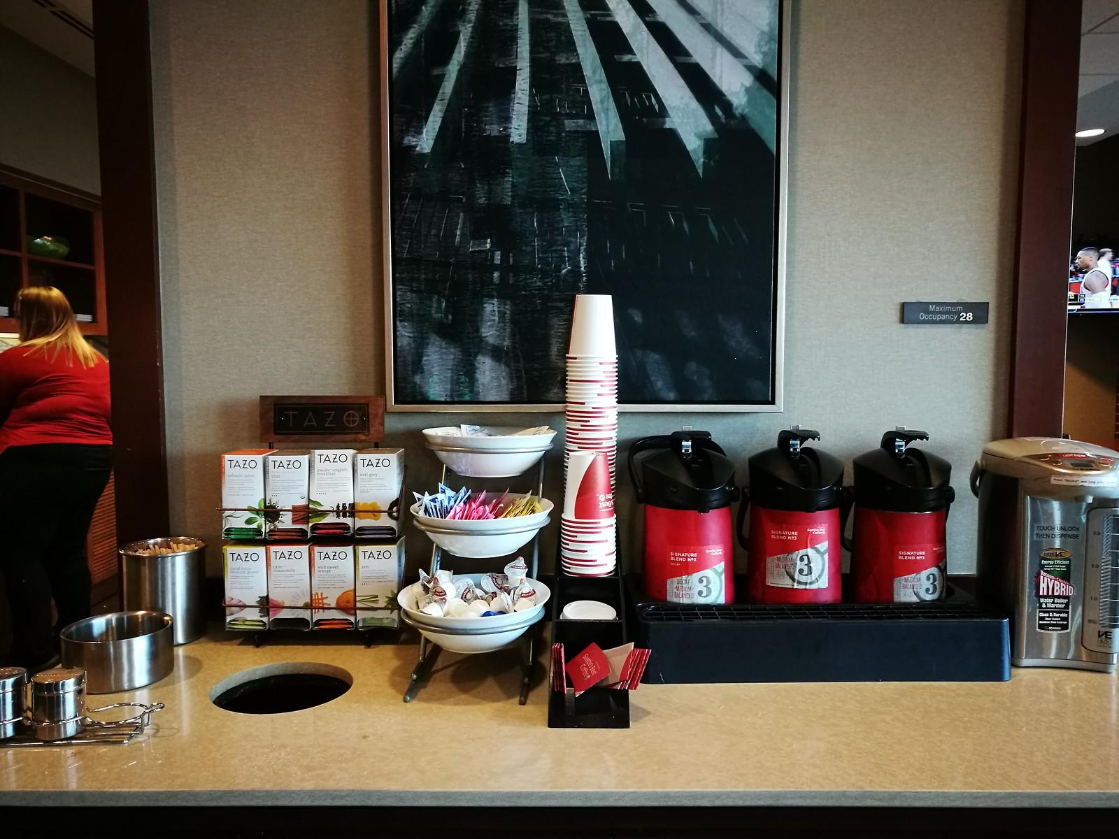 Coffee and tea setup