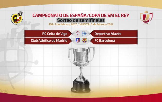 Copa del Rey - Sorteo Semifinales