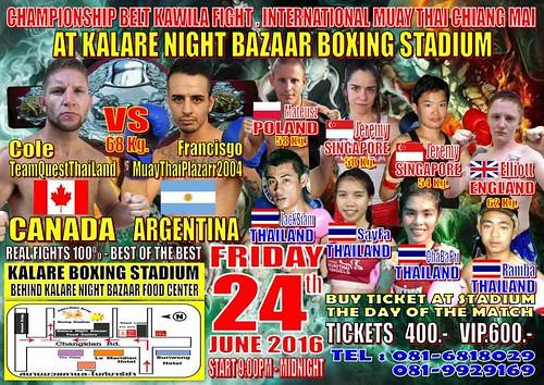 Brochure Kalare Boxing Stadium Chiang Mai Thailand 2