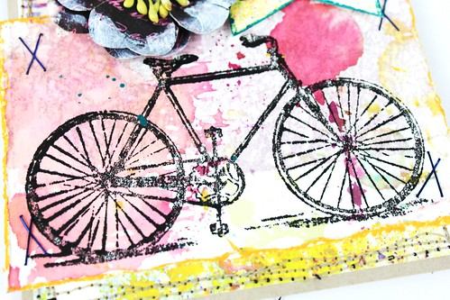 Meihsia Liu Simply Paper Crafts Mixed Media Card Simon Says Stamp Monday Challenge Bicycle Believe 4