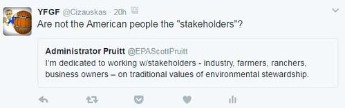 Pruitt & EPA stewardship