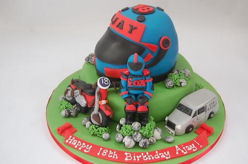 Ajays Motorcross Cake