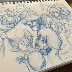 full page of mario bros doodles art artwork illustrat flickr