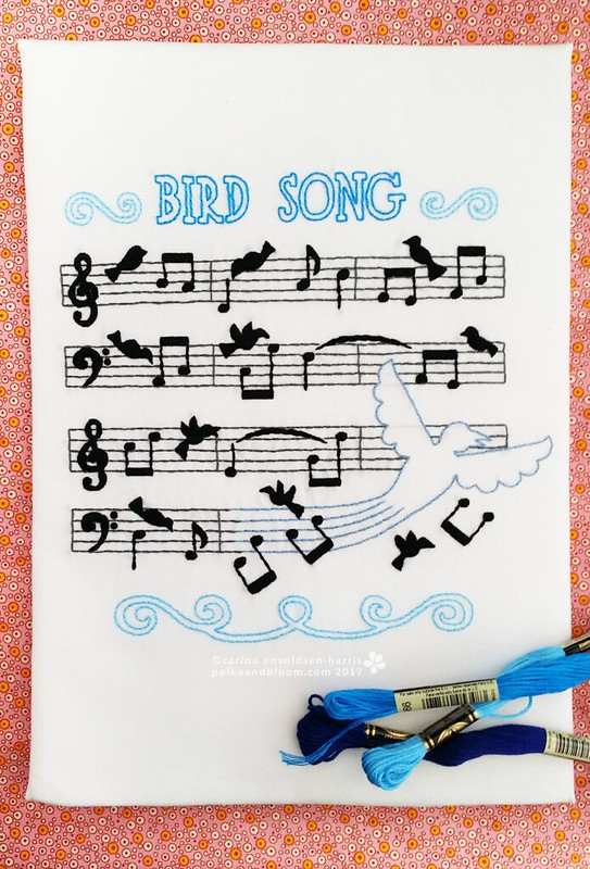 Bird Song embroidery pattern