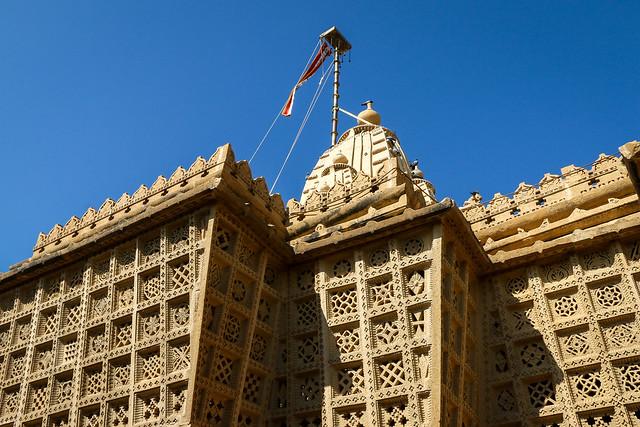 Exterior of Lodurva Jain temple, Jaisalmer, India ジャイサルメール ロアーバのジャイナ教寺院